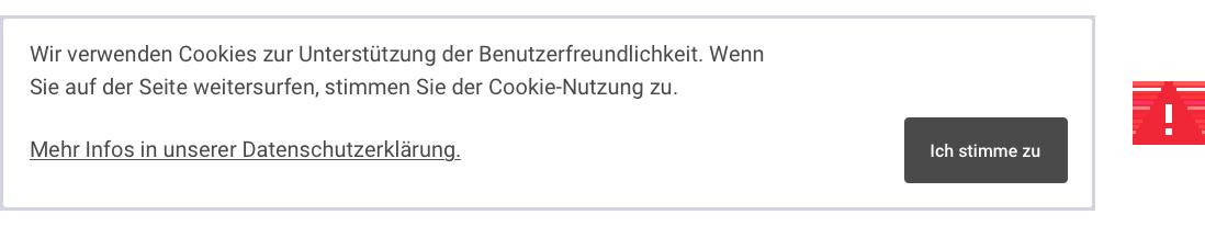 Beispiel eines falschen Cookie-Banner (Direkte Zustimmung)