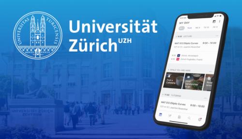 Bild von Mobile mit UZH App