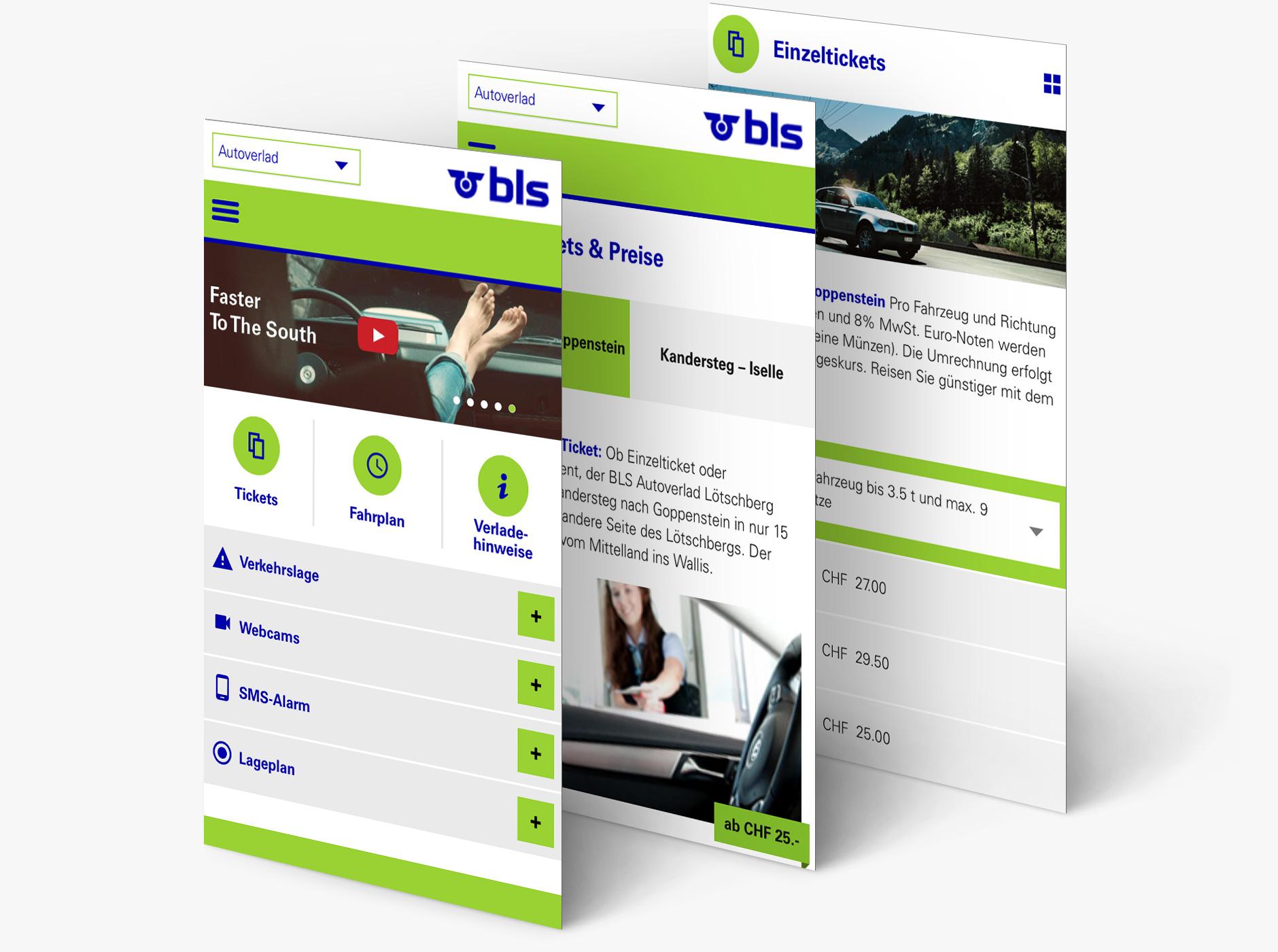 Mobile Ansicht einer Online Kommunikationskampagne