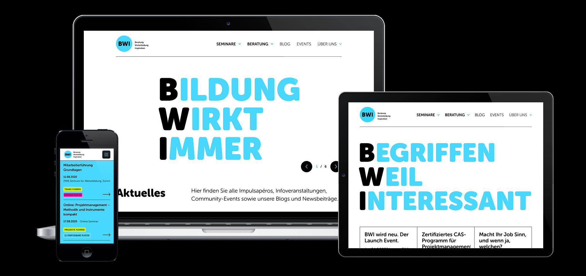 Branding und Website für BWI