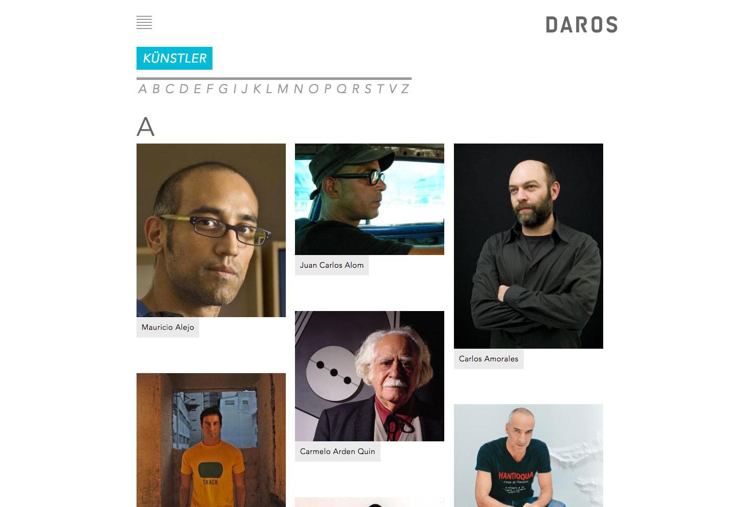 Künstler Auflistung slide 1