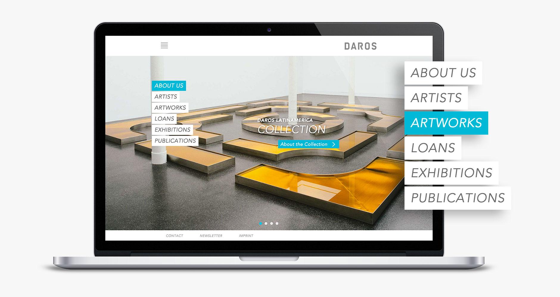 Collection Website für Daros Latinamerica