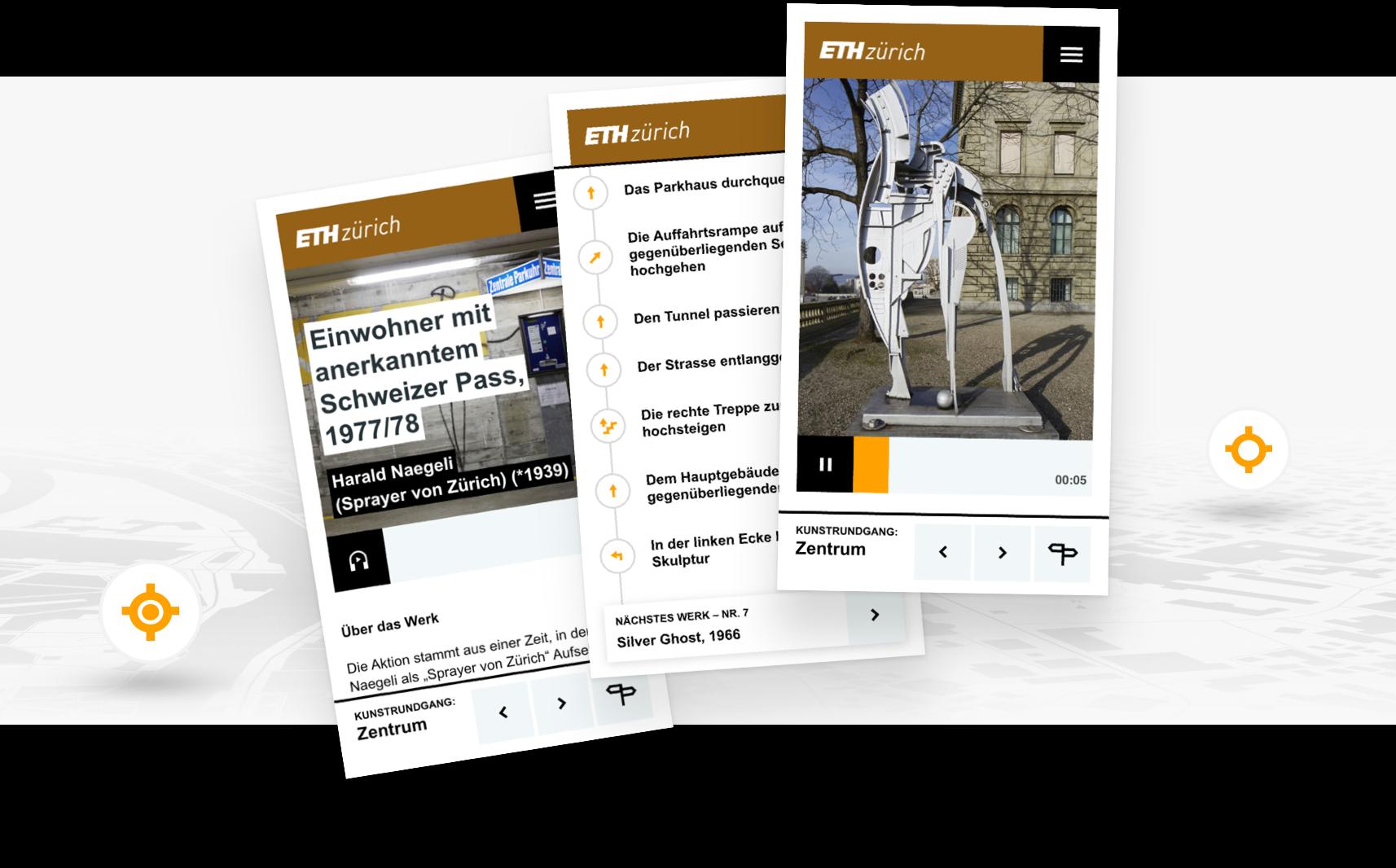 Case ETH Kunstrundgang  Mobile Screens