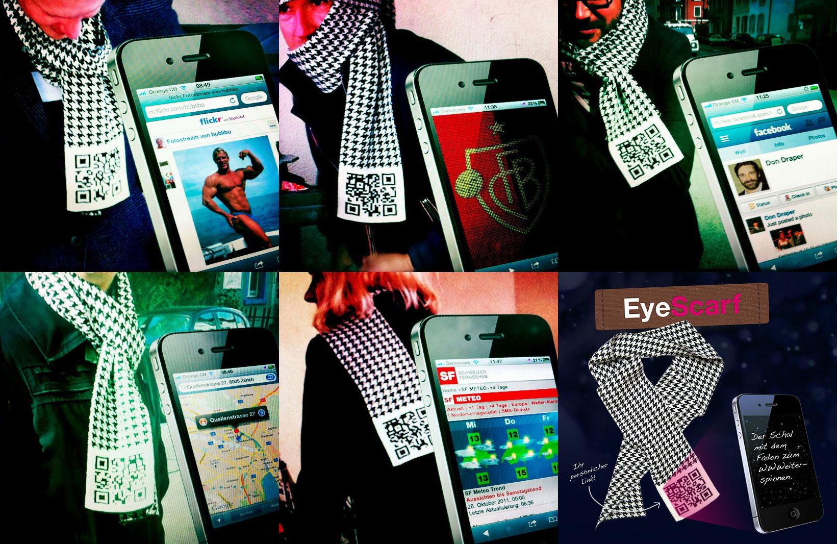 EyeScarf – Der Schal mit persönlichem QR-Code