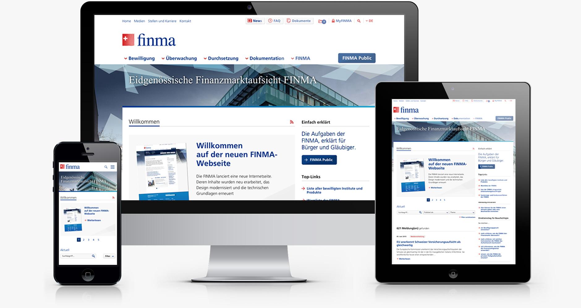 Onlineauftritt für die FINMA