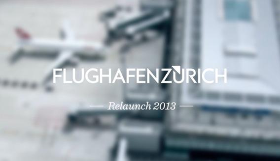 Website für den Flughafen Zürich
