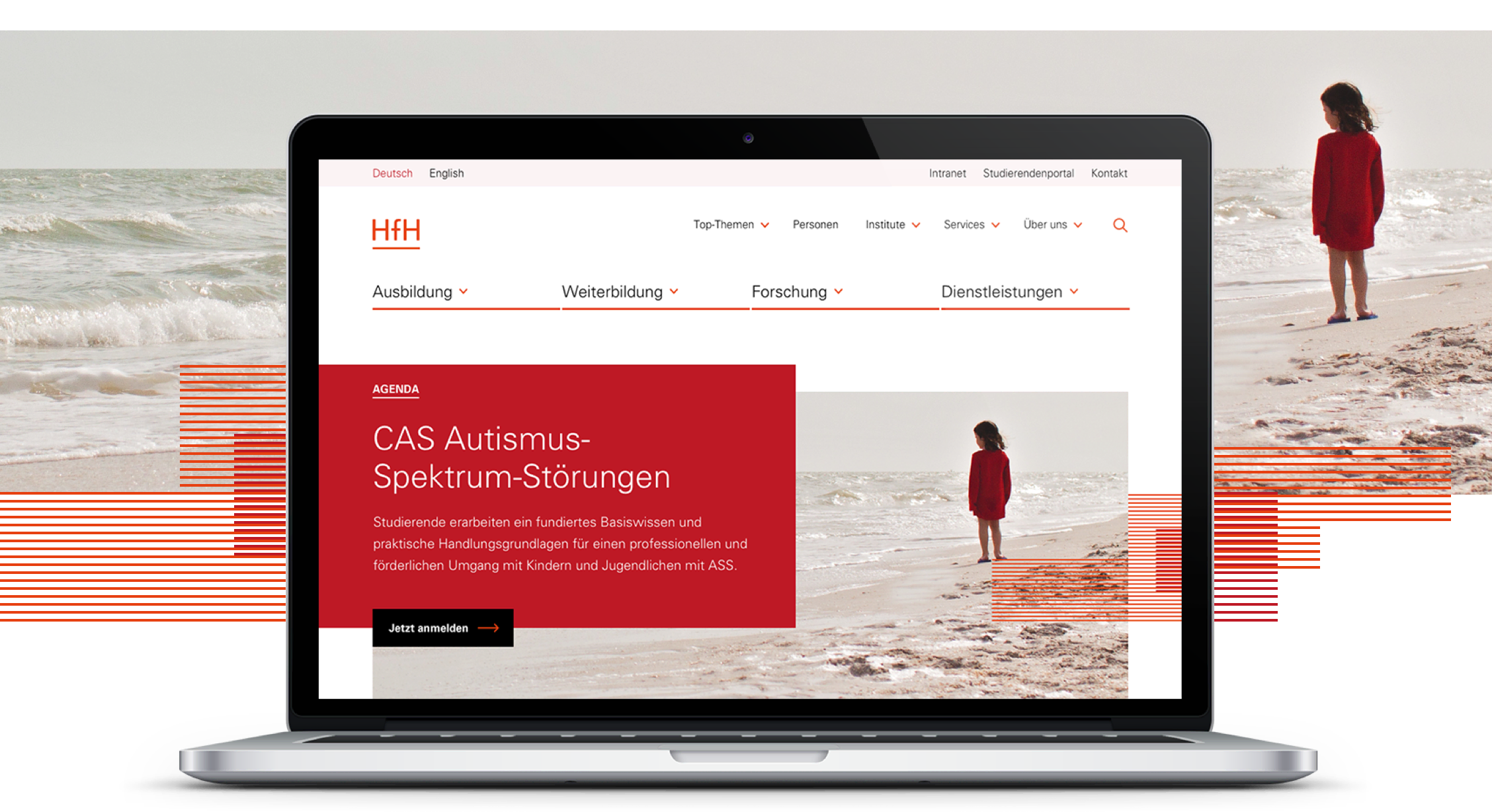 Umfassendes Web-Konzept für Heilpädagogik-Hochschule