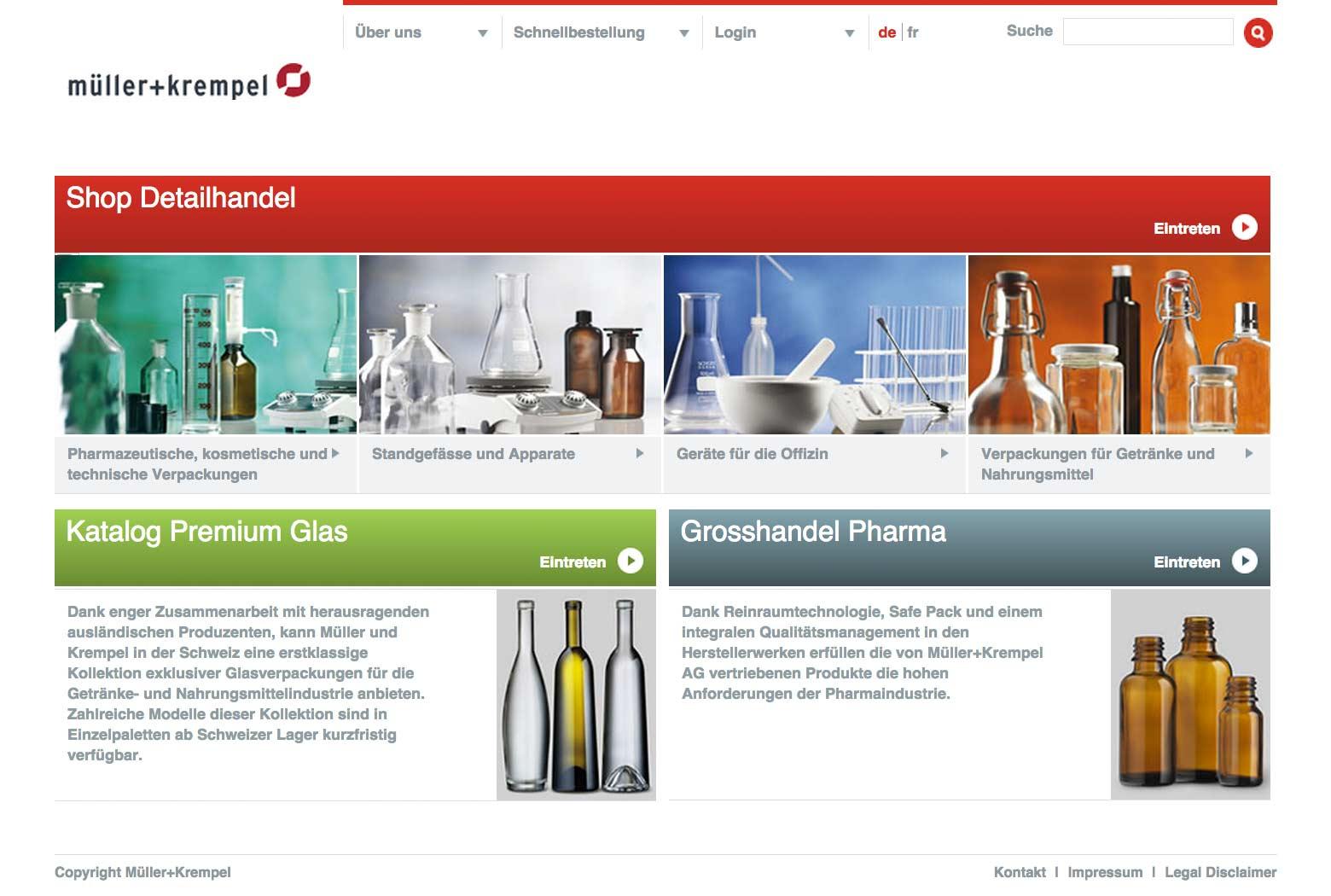 Startseite Müller + Krempel slide 0