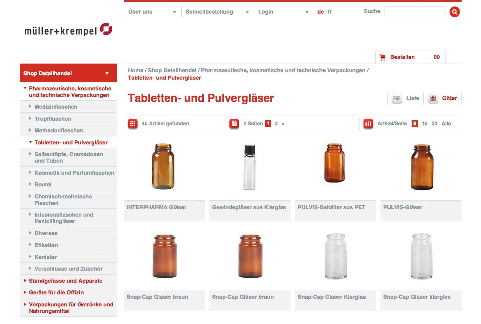 E-Shop für Glasflaschen slide 1