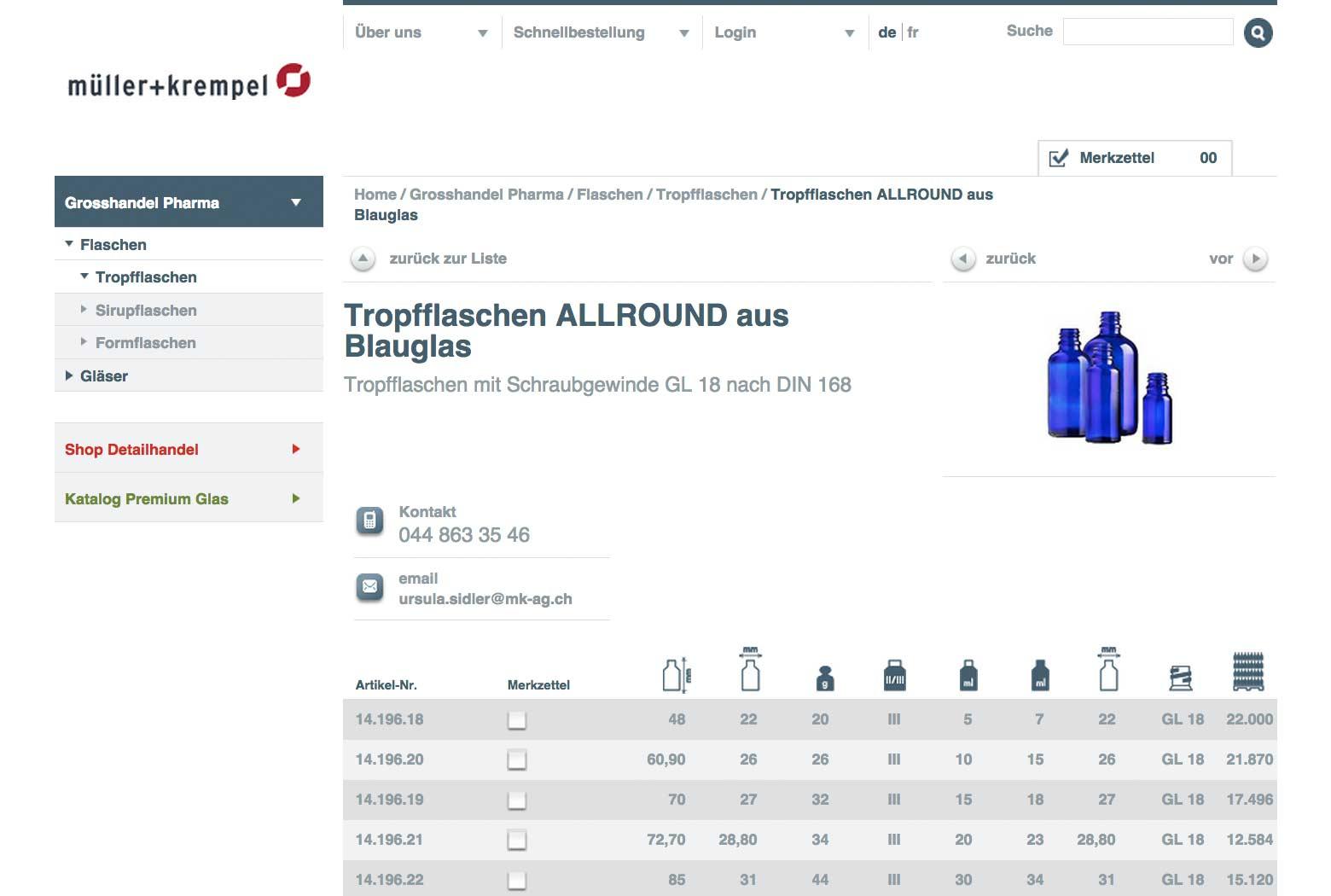 E-Business Webseite für Müller + Krempel slide 4