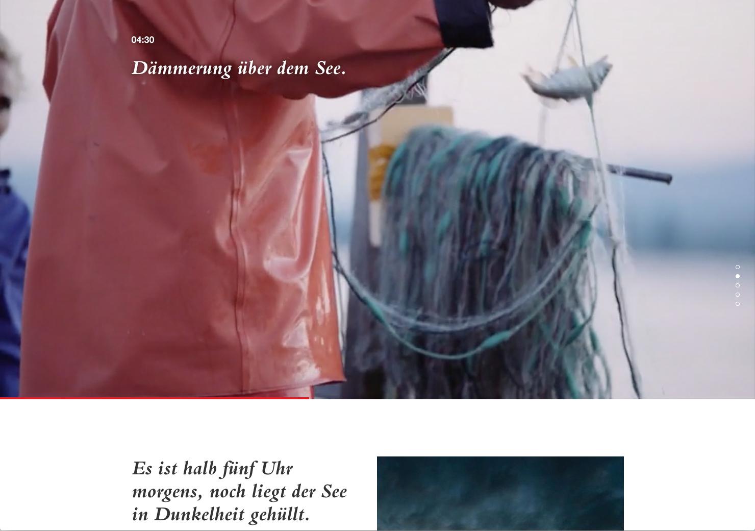 Scrolling Seite über Fischer slide 1