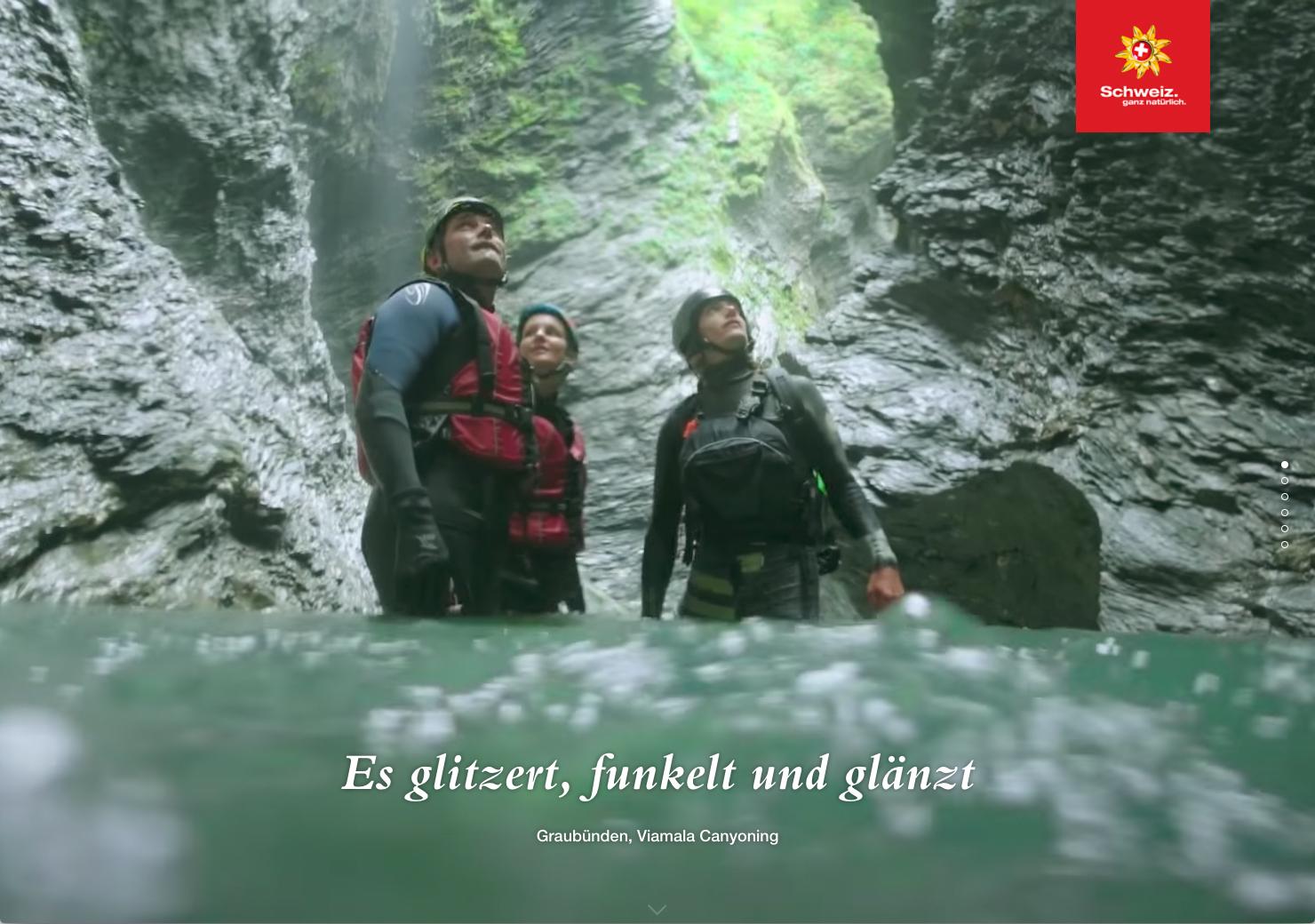 Canyoning in Grabünden, Schweiz slide 6