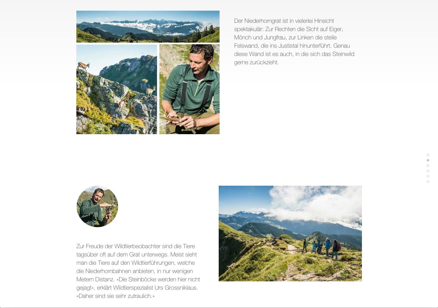 Wanderungen in den Bergen als Scrolling Seite slide 10