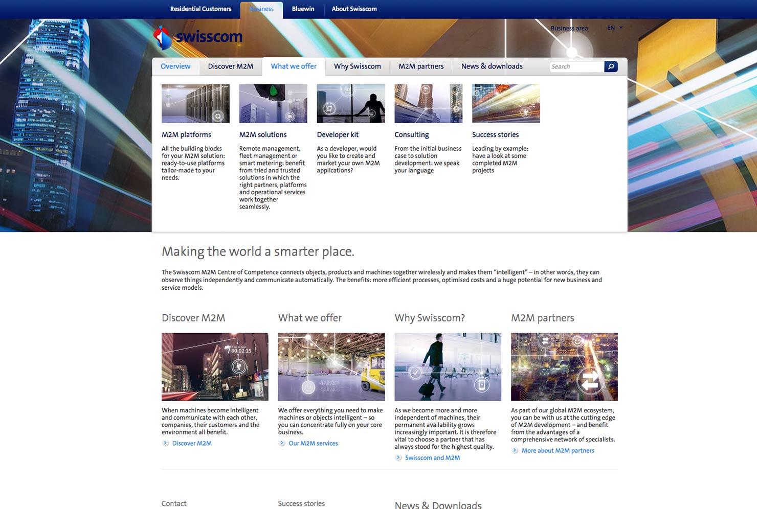 Swisscom M2M Kampagne slide 1