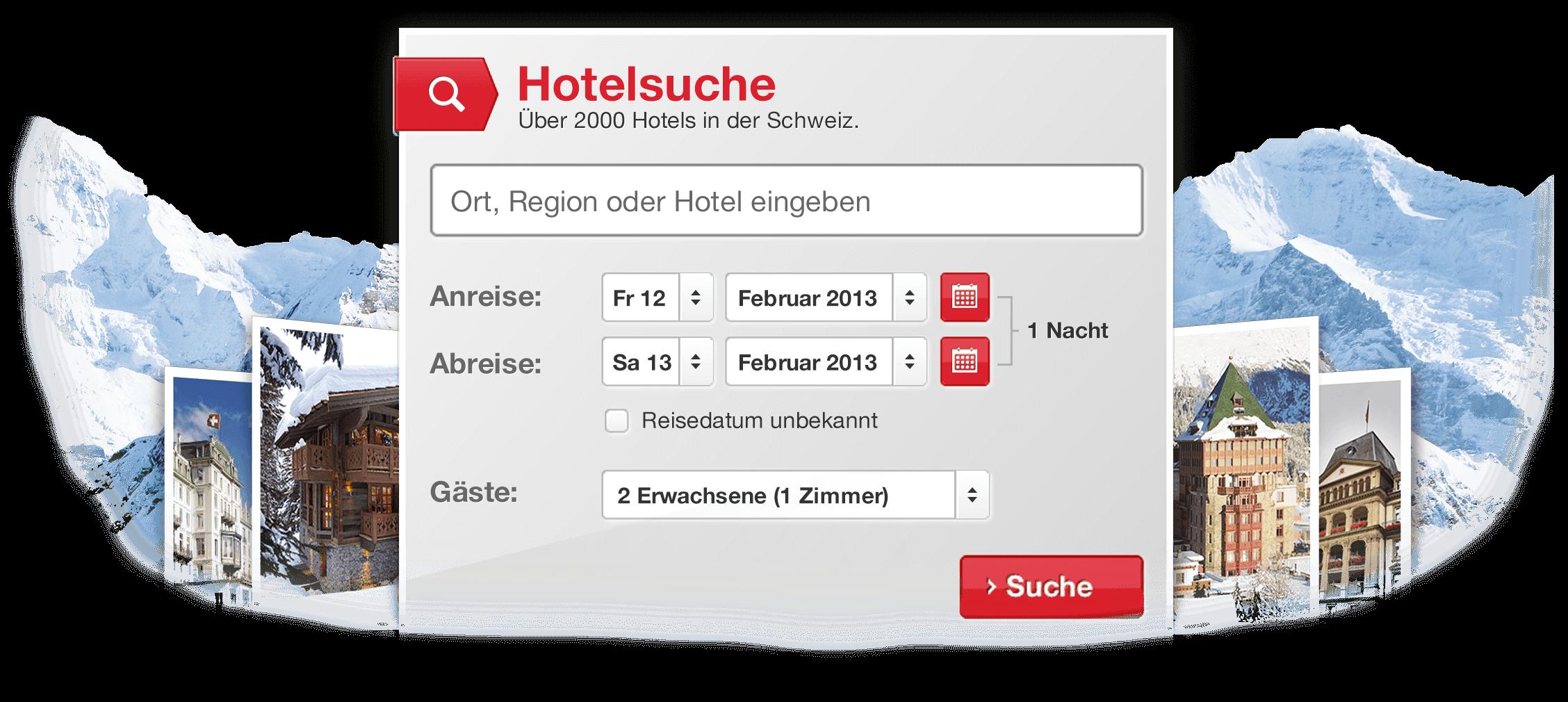 Hotelbuchungs-Plattform für Swisshotels.com
