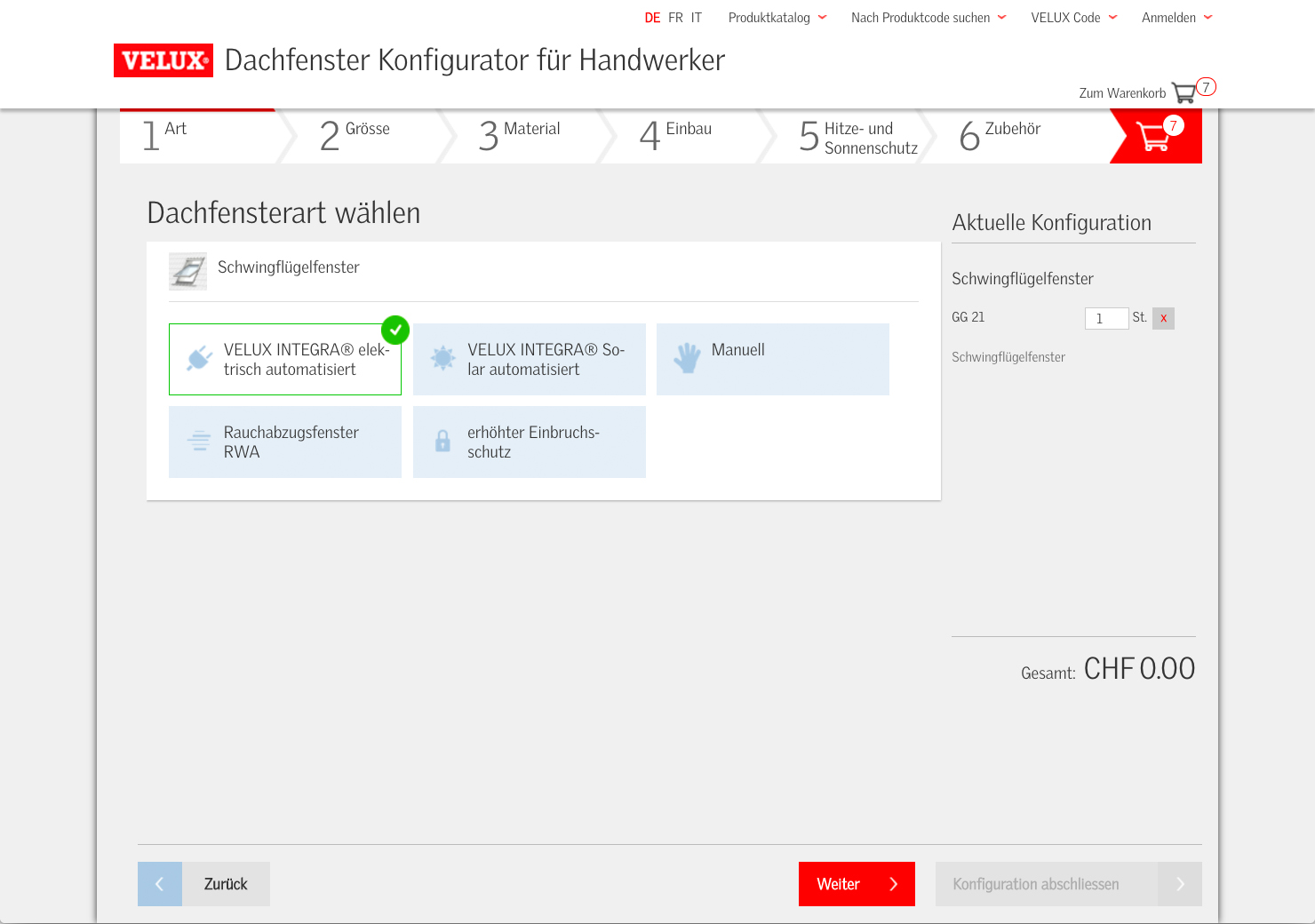 Online Konfigurator Dachfenster slide 2
