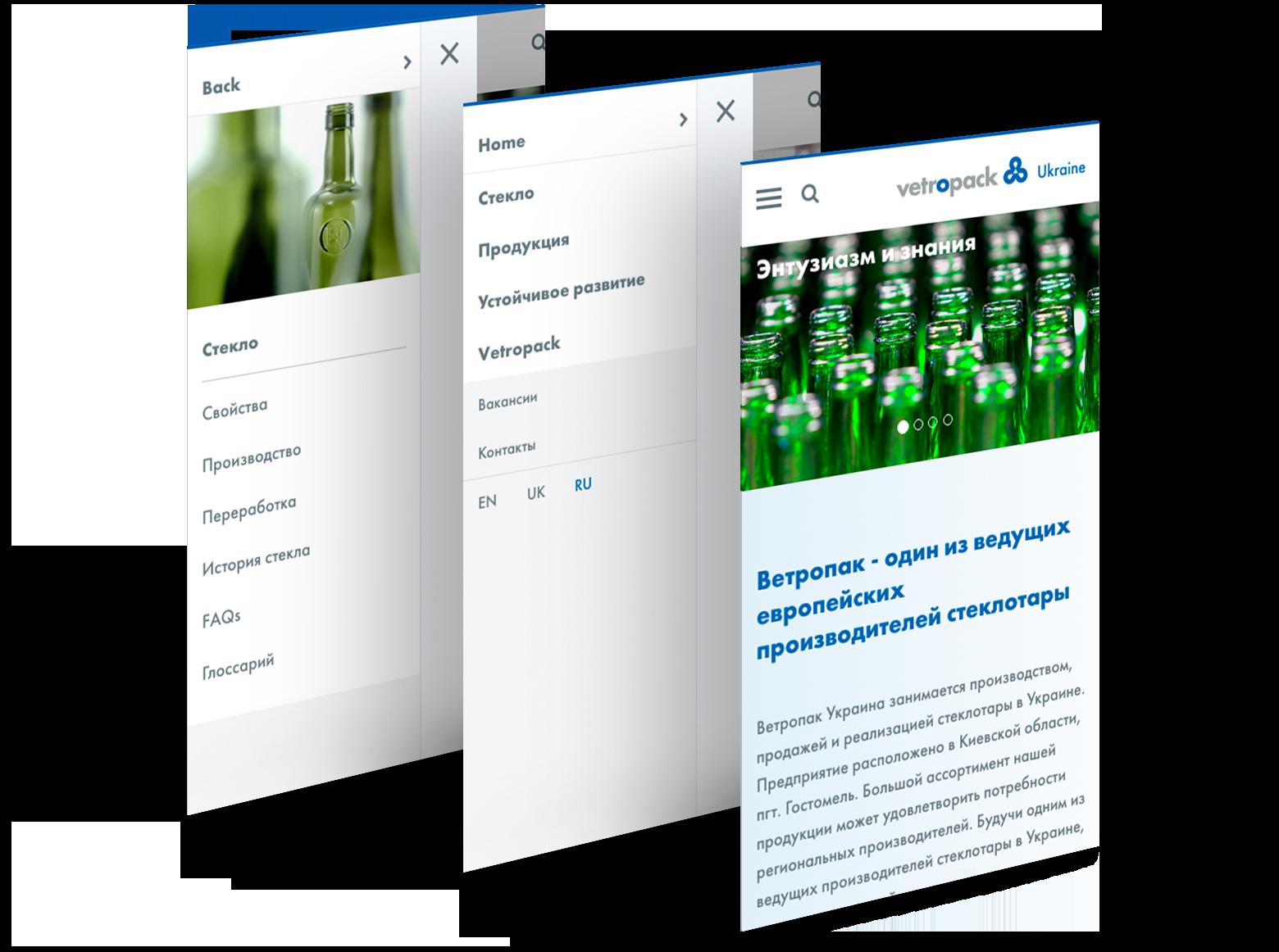 Responsive Zustände Unternehmens-Website