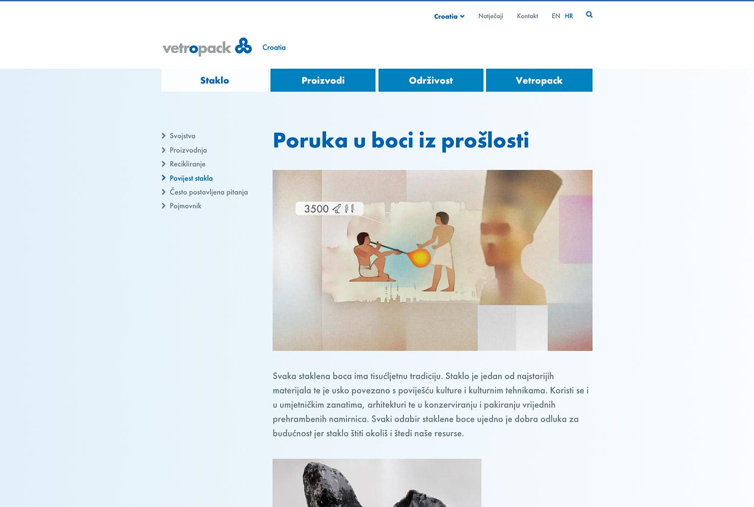 Detailseite Webseite Vetropack Unternehmen slide 4