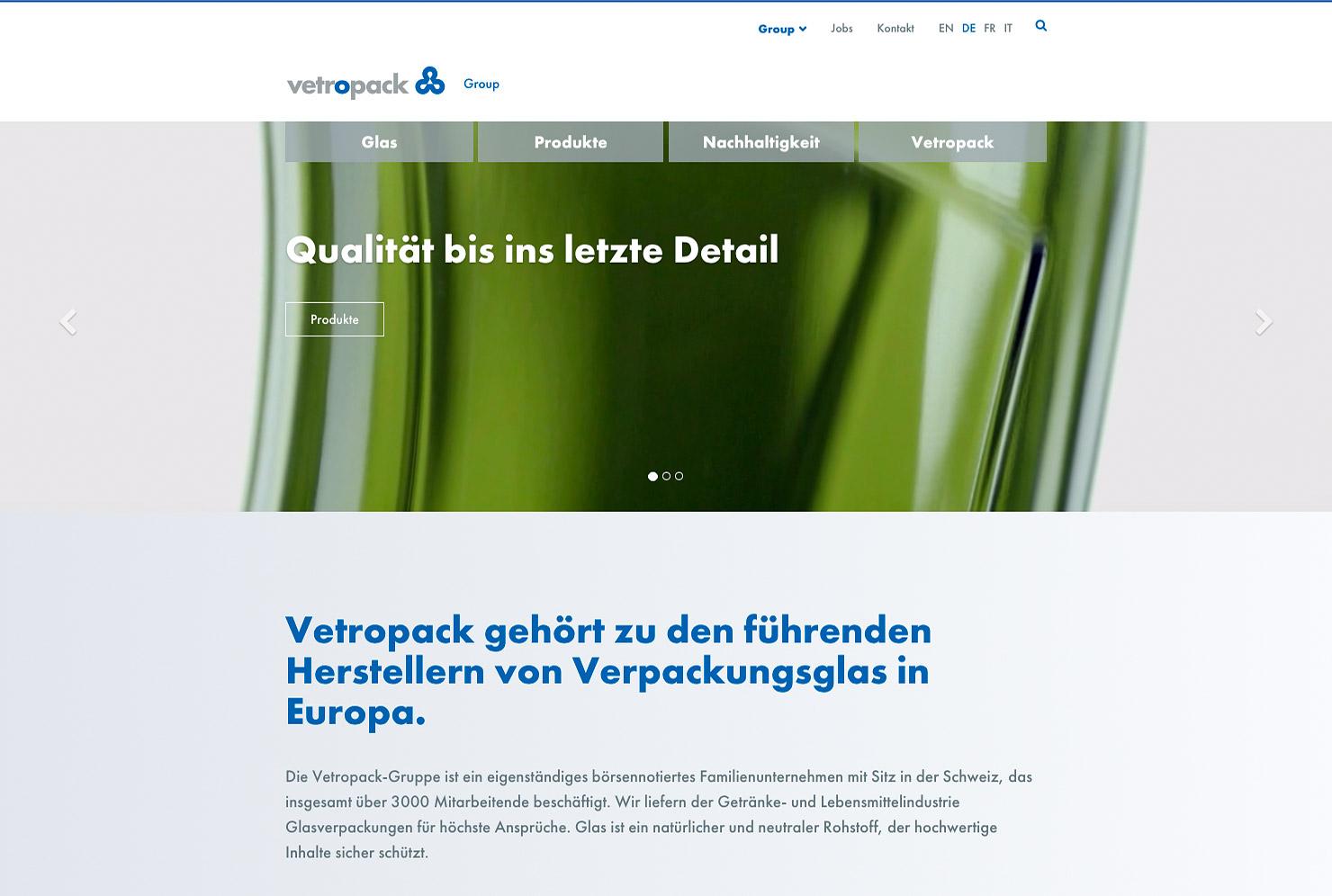 Startseite Webseite Vetropack Unternehmen slide 0