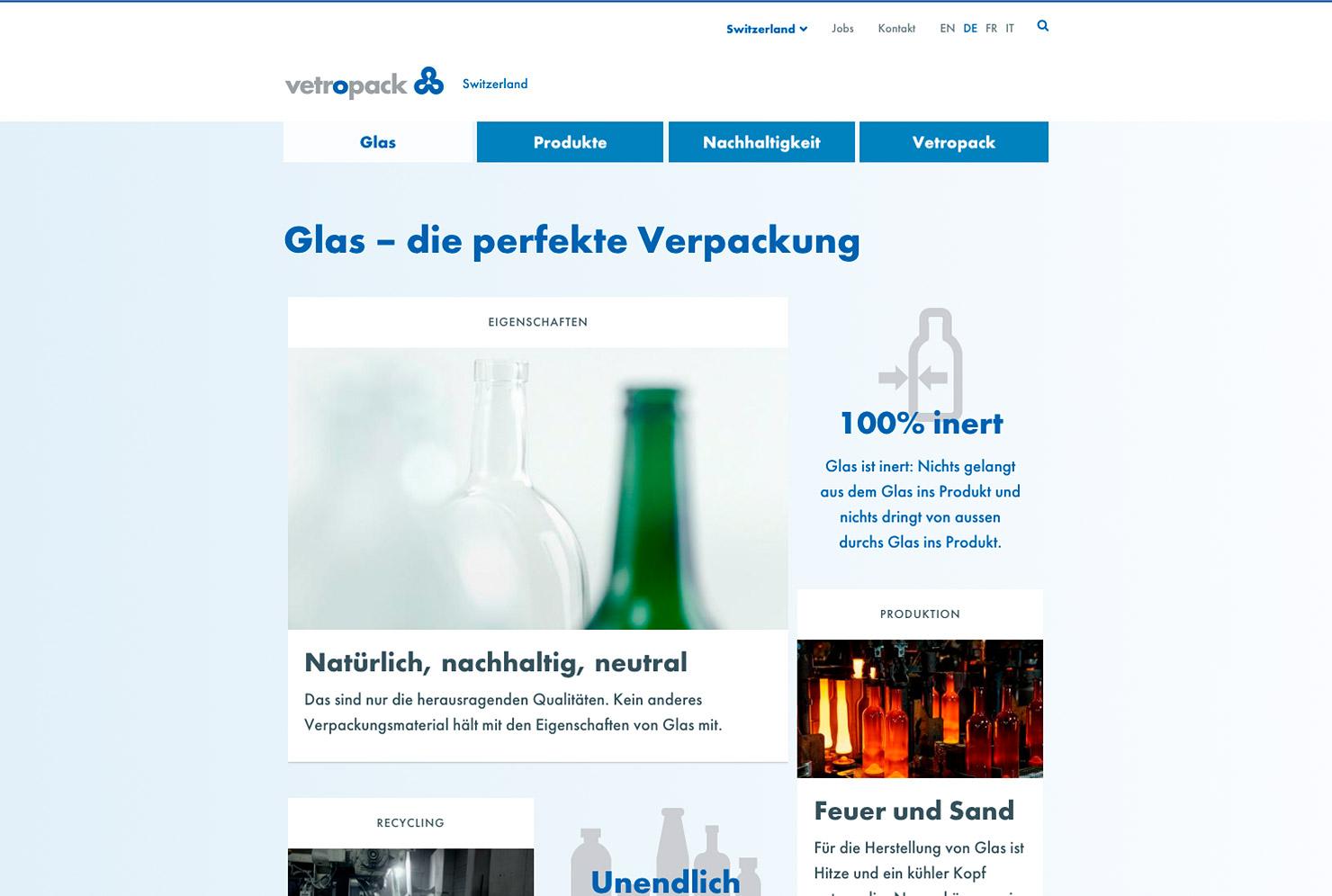 Übersichtsseite Unternehmens-Website slide 2