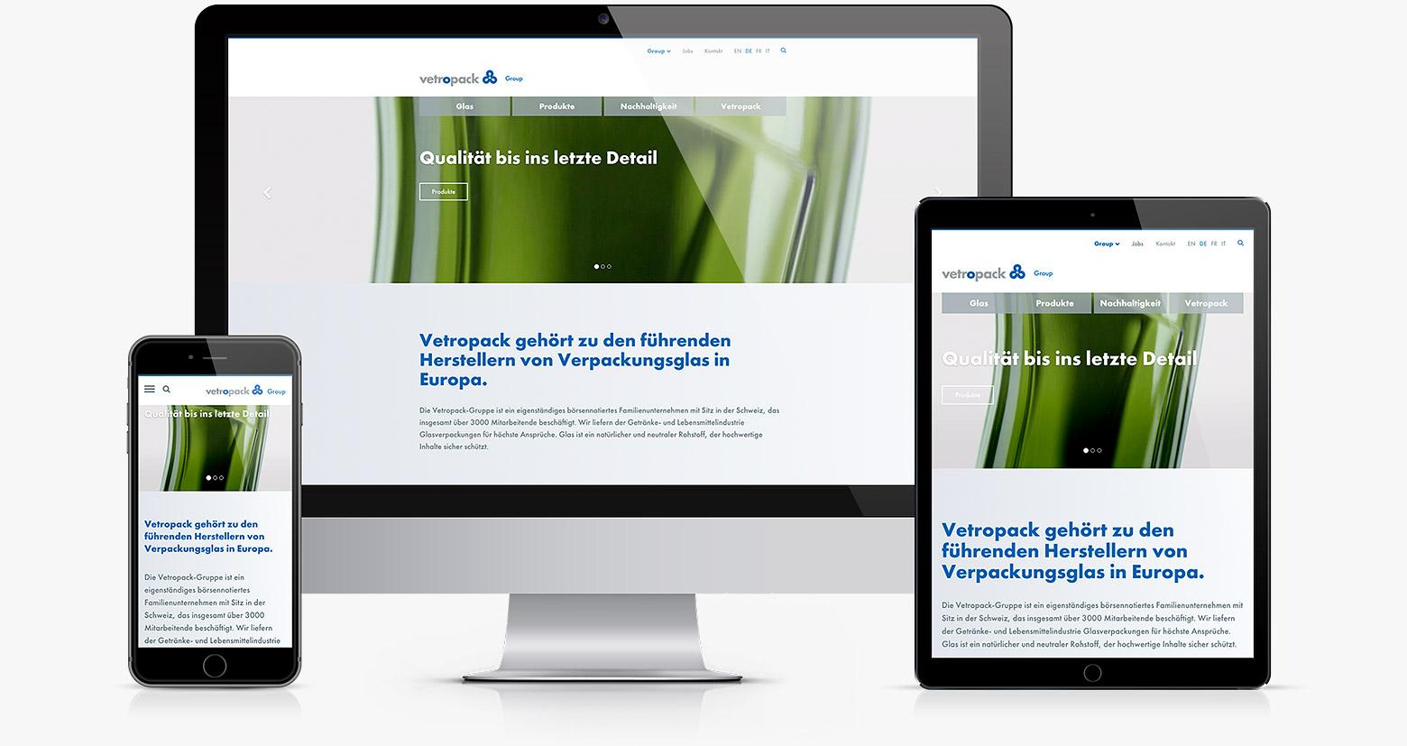 Relaunch Website Vetropack