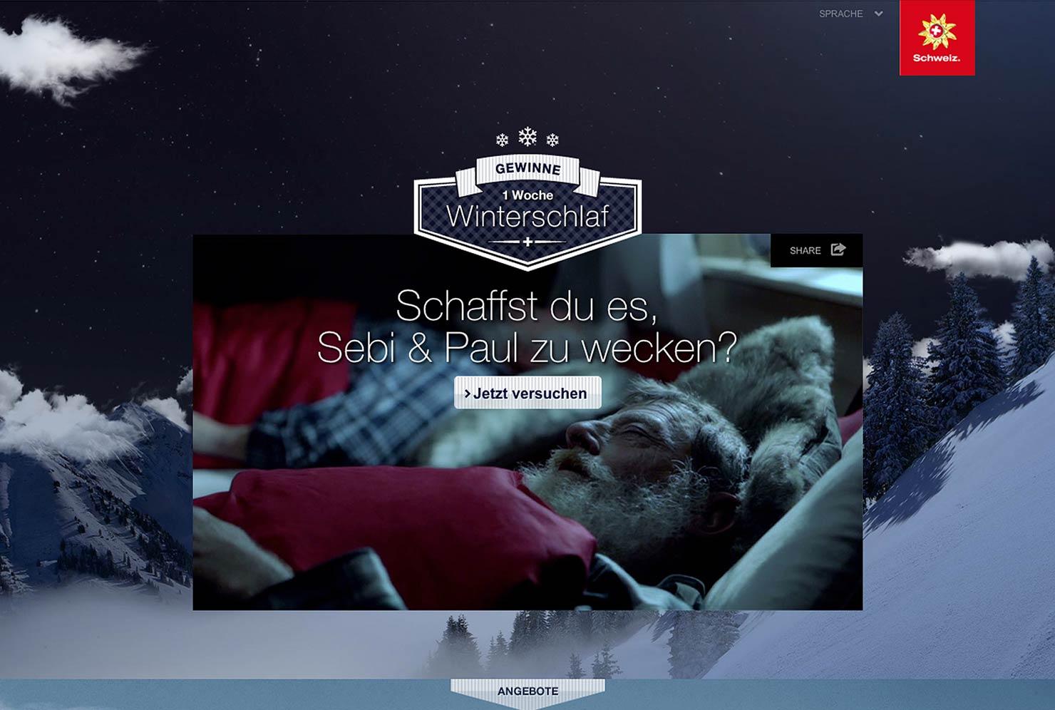 Winterschlaf Online Kampagne slide 2