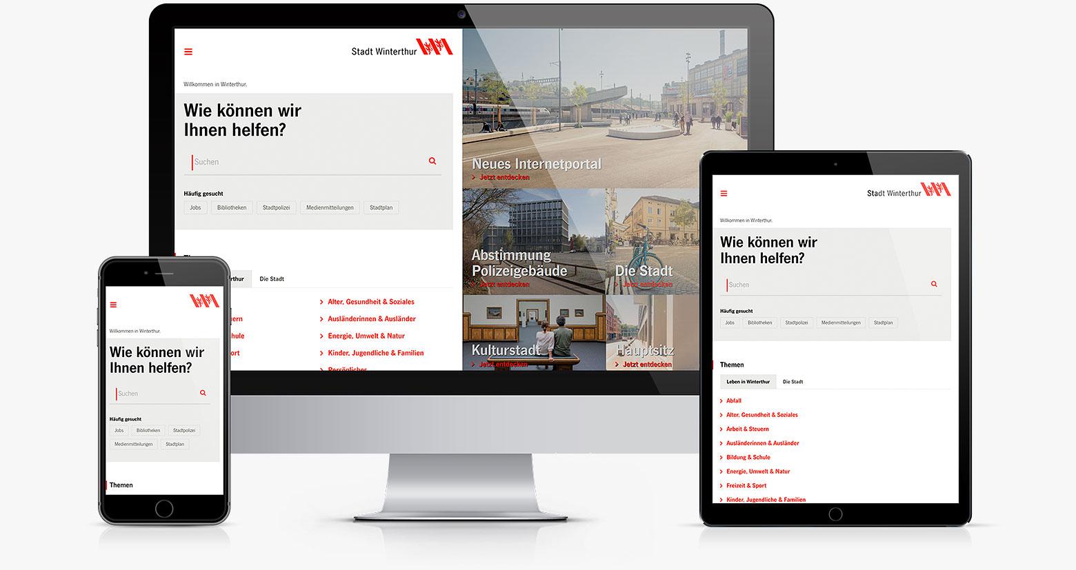 Relaunch des Portals der Stadt Winterthur