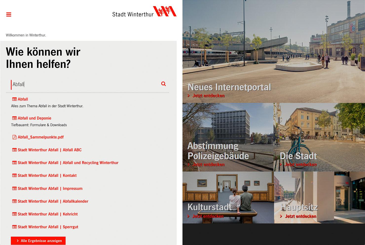 Nutzerzentrierte Startseite slide 0