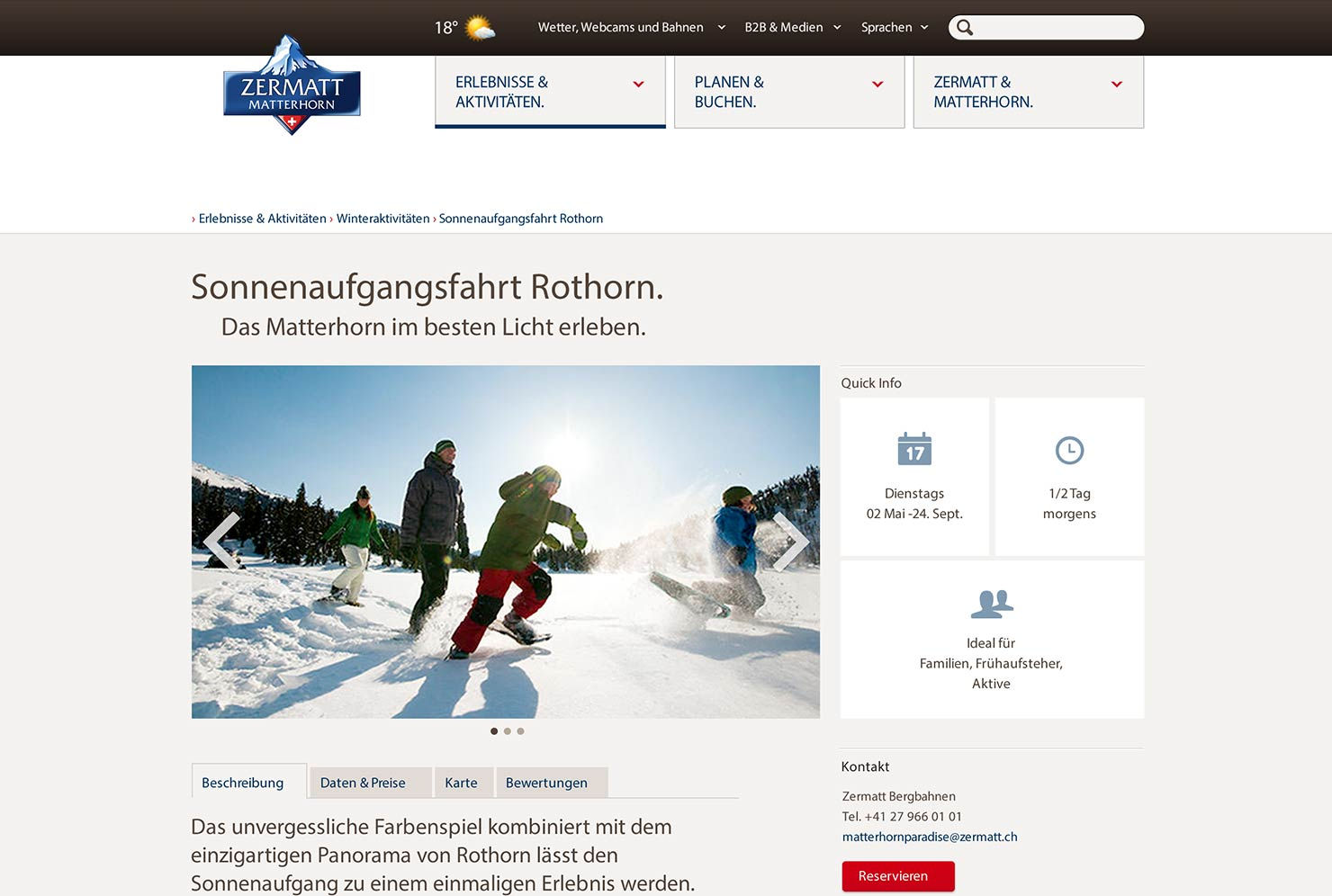 Tourismus Website - Detailseite slide 2